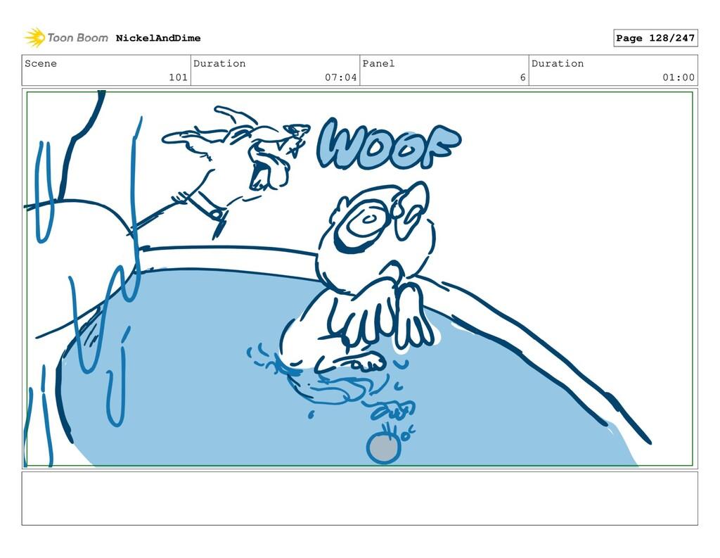 Scene 101 Duration 07:04 Panel 6 Duration 01:00...