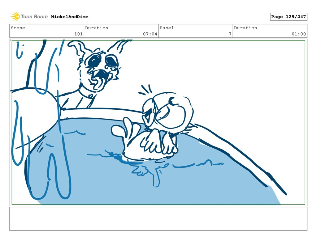 Scene 101 Duration 07:04 Panel 7 Duration 01:00...