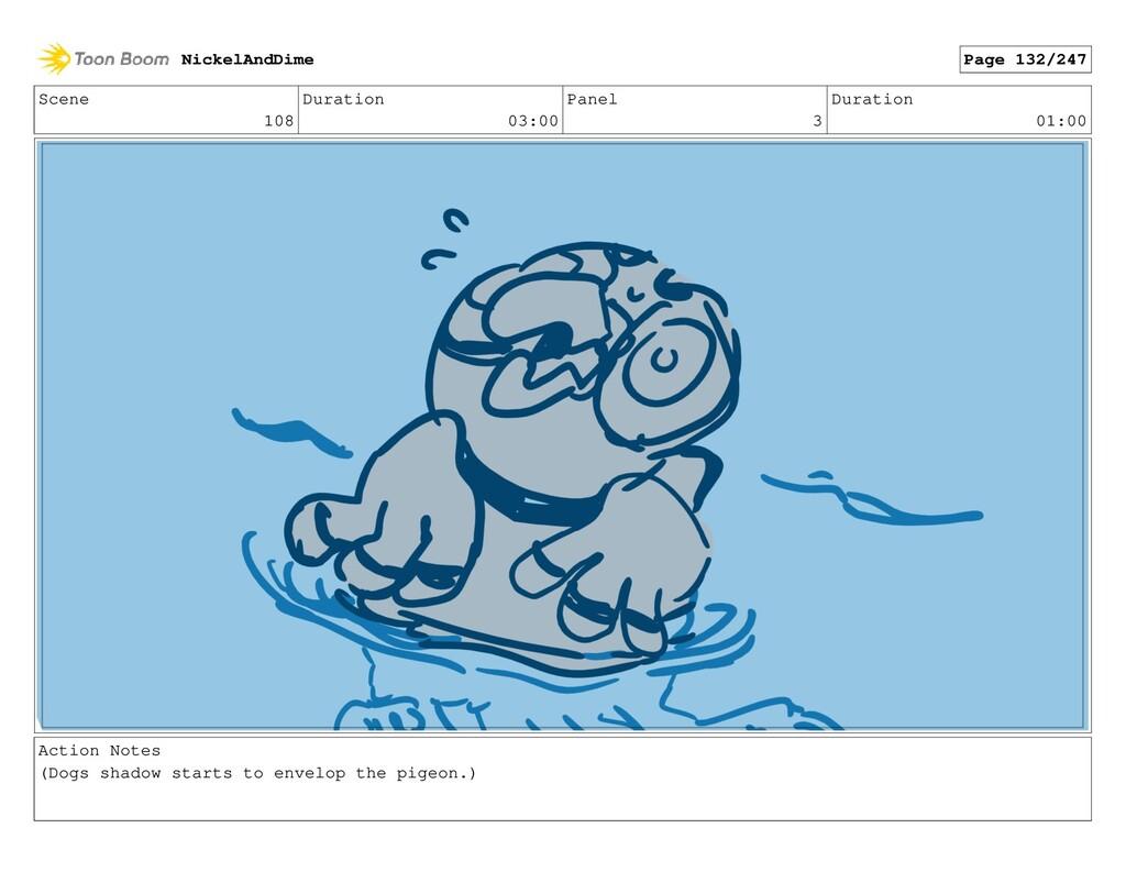 Scene 108 Duration 03:00 Panel 3 Duration 01:00...