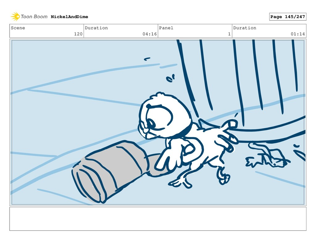 Scene 120 Duration 04:16 Panel 1 Duration 01:14...