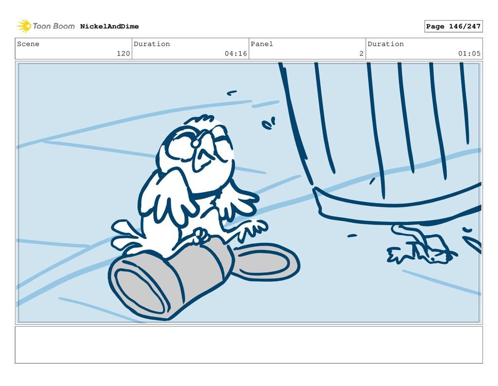 Scene 120 Duration 04:16 Panel 2 Duration 01:05...