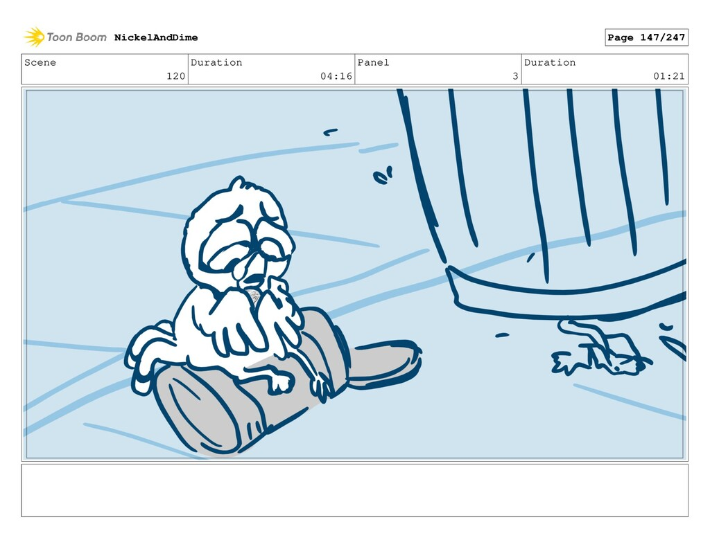 Scene 120 Duration 04:16 Panel 3 Duration 01:21...