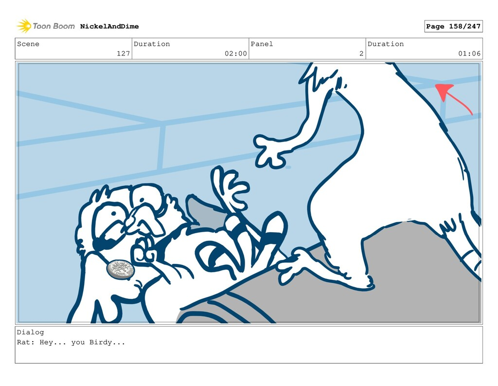 Scene 127 Duration 02:00 Panel 2 Duration 01:06...
