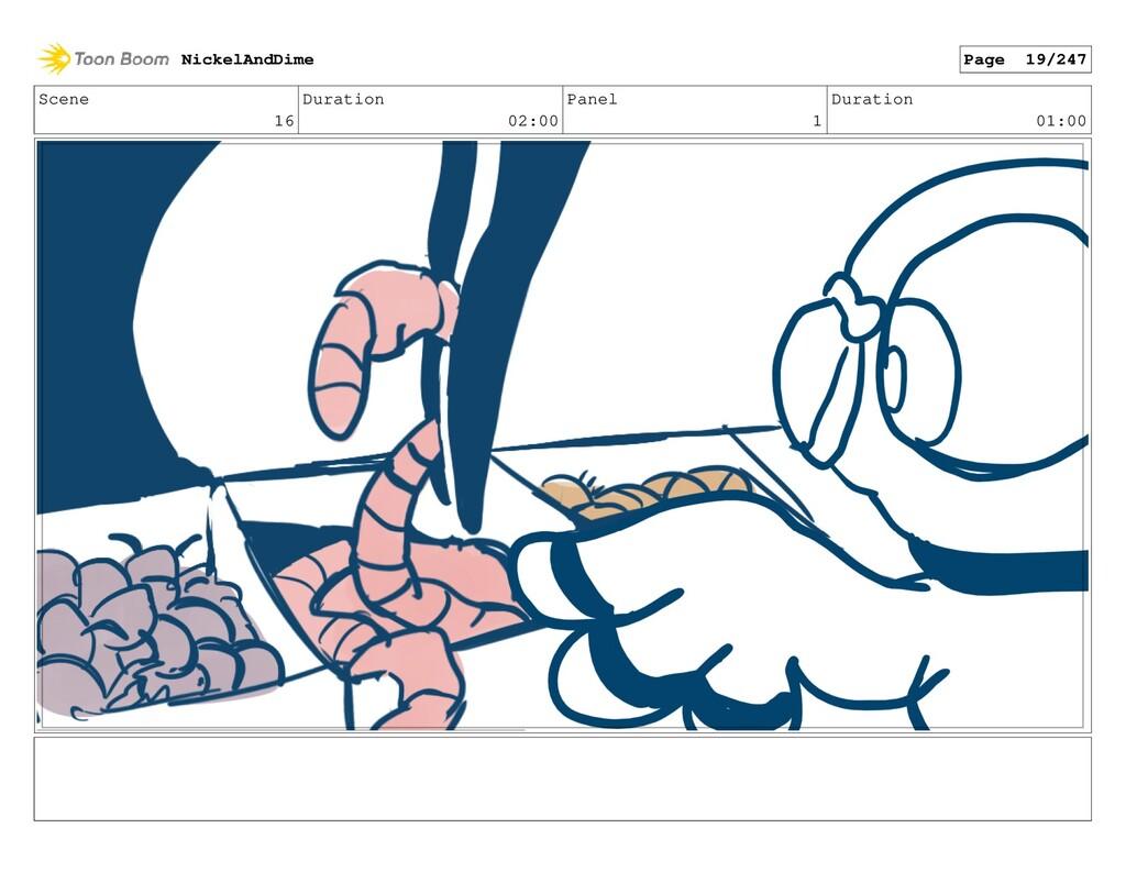 Scene 16 Duration 02:00 Panel 1 Duration 01:00 ...