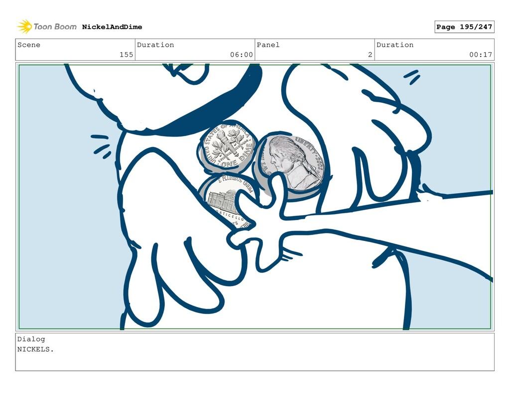 Scene 155 Duration 06:00 Panel 2 Duration 00:17...