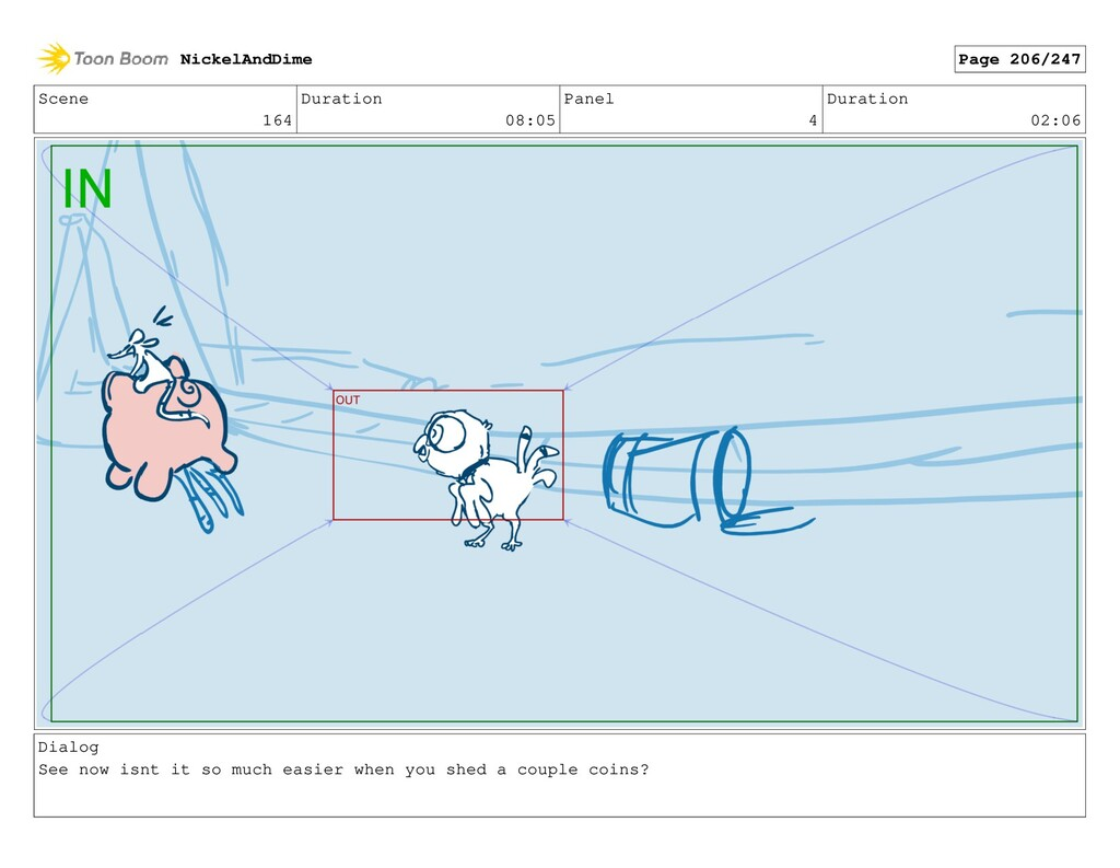 Scene 164 Duration 08:05 Panel 4 Duration 02:06...