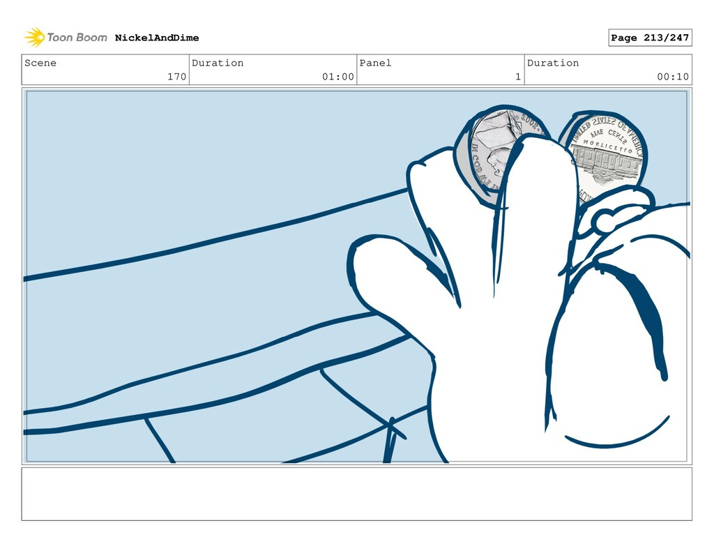 Scene 170 Duration 01:00 Panel 1 Duration 00:10...
