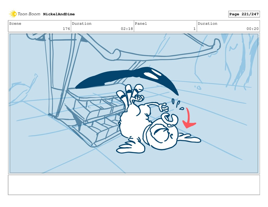 Scene 176 Duration 02:18 Panel 1 Duration 00:20...