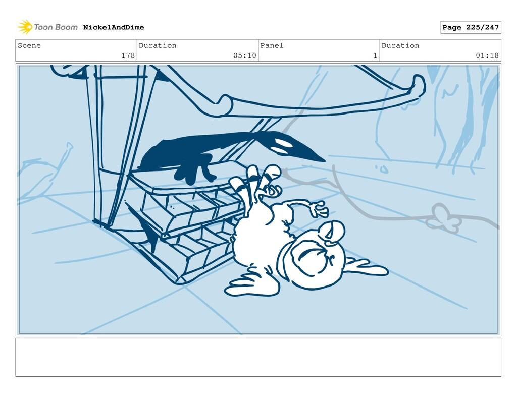 Scene 178 Duration 05:10 Panel 1 Duration 01:18...