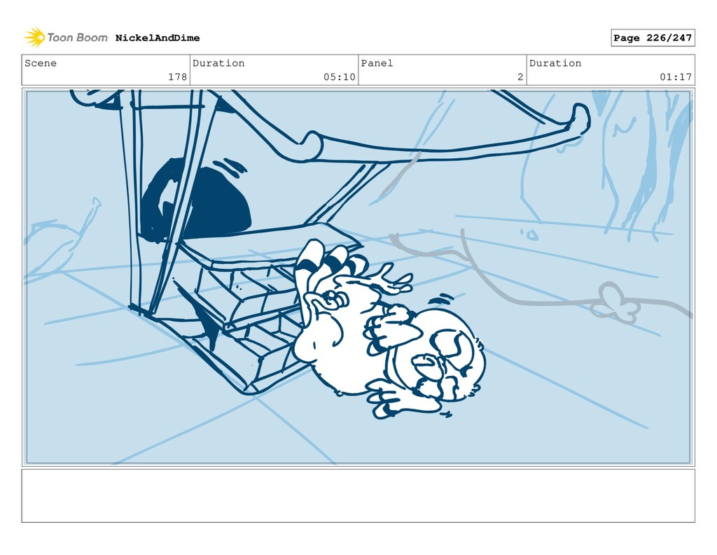 Scene 178 Duration 05:10 Panel 2 Duration 01:17...