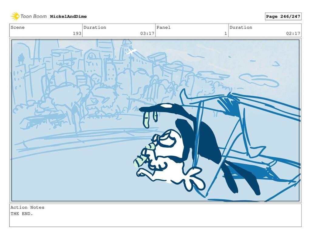 Scene 193 Duration 03:17 Panel 1 Duration 02:17...