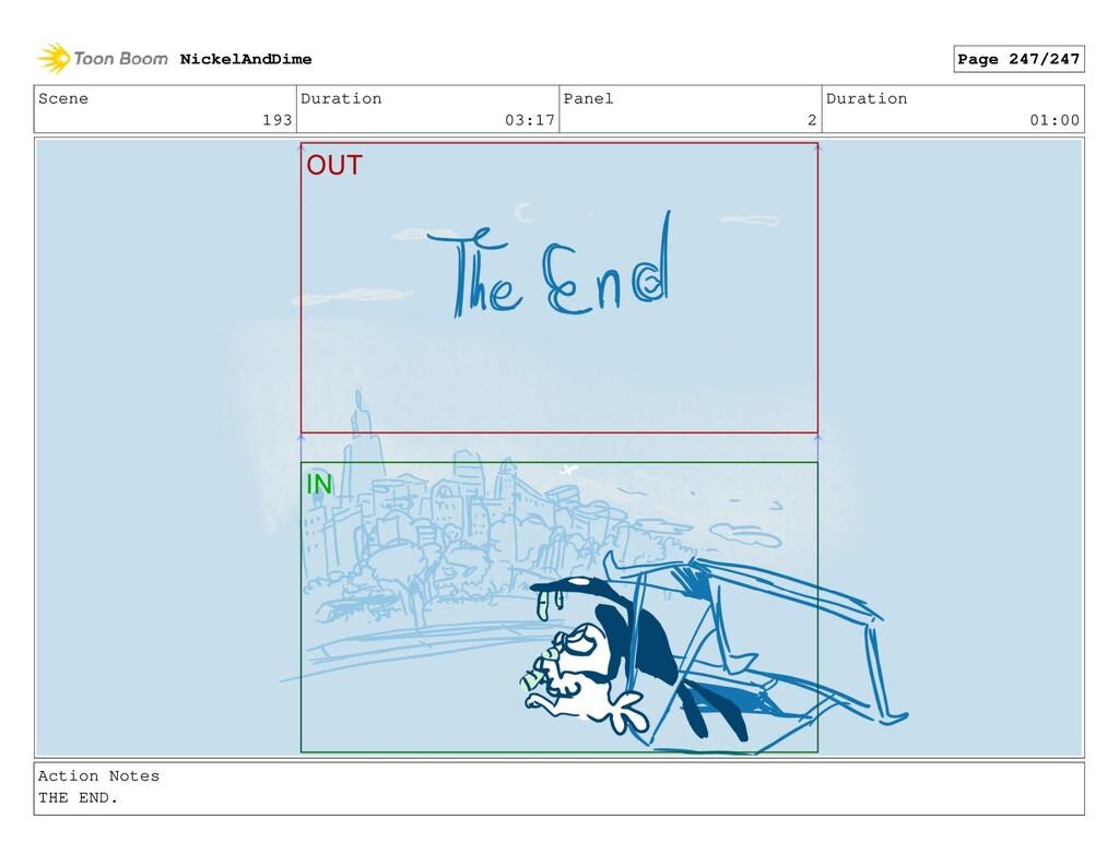 Scene 193 Duration 03:17 Panel 2 Duration 01:00...