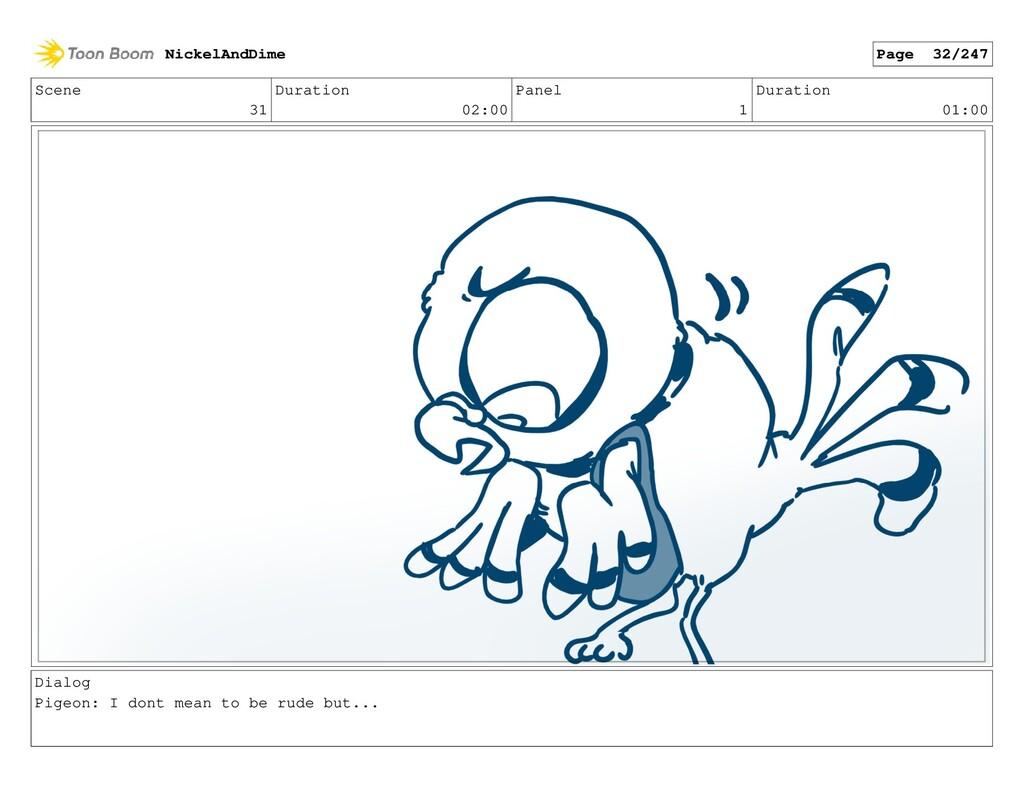 Scene 31 Duration 02:00 Panel 1 Duration 01:00 ...