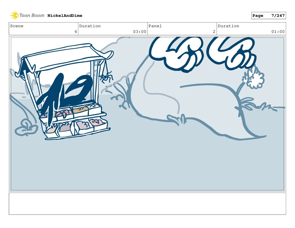 Scene 6 Duration 03:00 Panel 2 Duration 01:00 N...