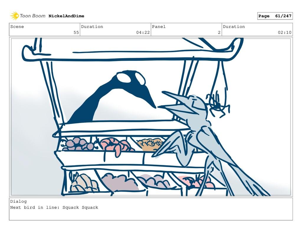 Scene 55 Duration 04:22 Panel 2 Duration 02:10 ...