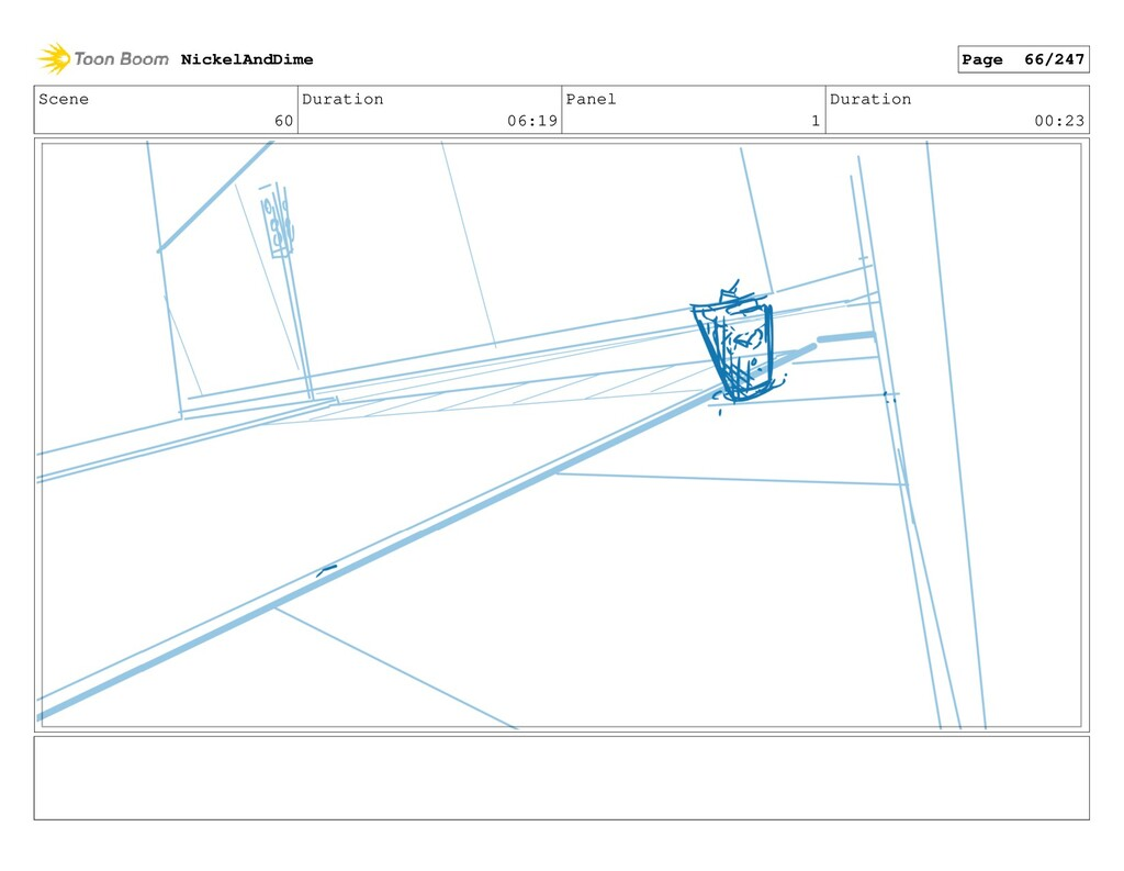 Scene 60 Duration 06:19 Panel 1 Duration 00:23 ...