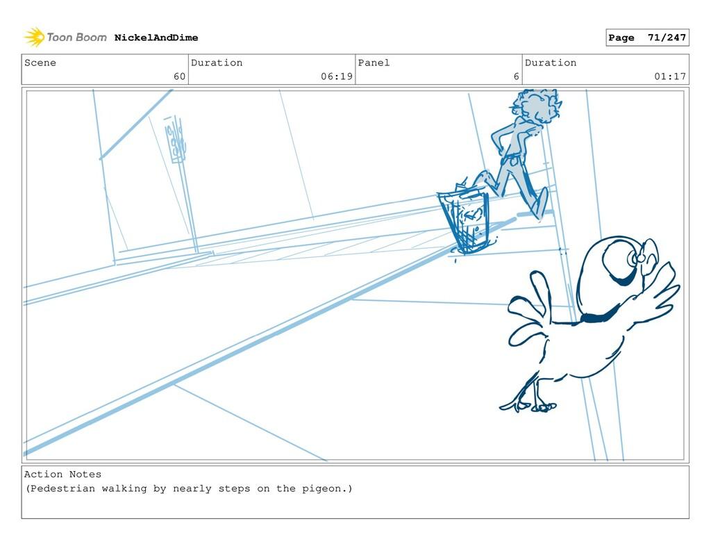 Scene 60 Duration 06:19 Panel 6 Duration 01:17 ...