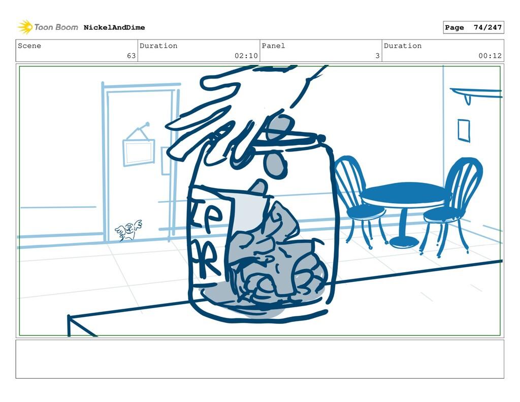 Scene 63 Duration 02:10 Panel 3 Duration 00:12 ...