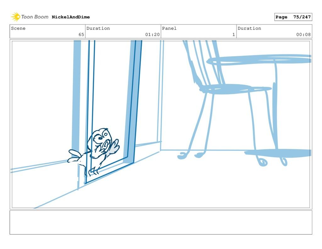 Scene 65 Duration 01:20 Panel 1 Duration 00:08 ...