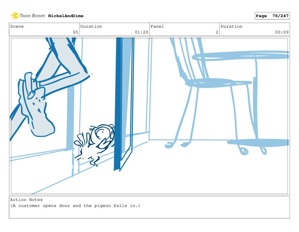 Scene 65 Duration 01:20 Panel 2 Duration 00:09 ...