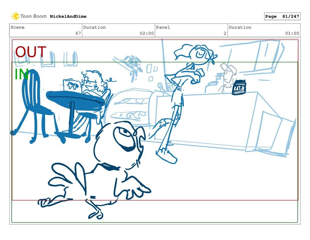 Scene 67 Duration 02:00 Panel 2 Duration 01:00 ...