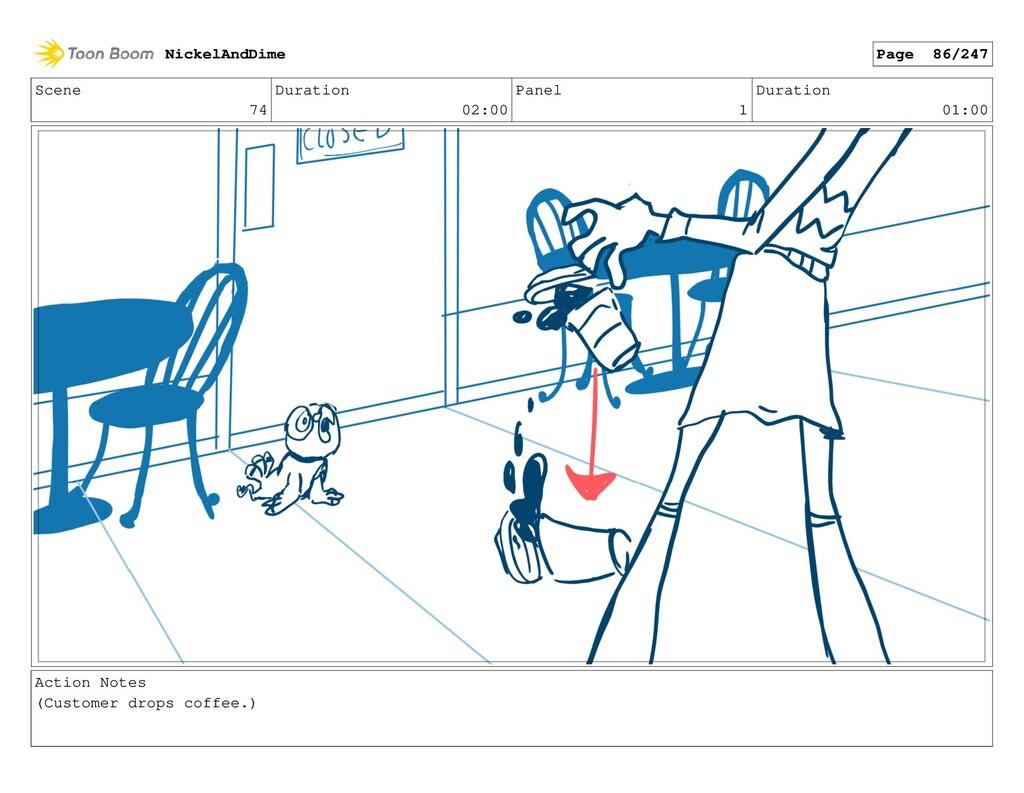 Scene 74 Duration 02:00 Panel 1 Duration 01:00 ...