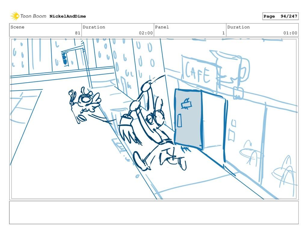 Scene 81 Duration 02:00 Panel 1 Duration 01:00 ...