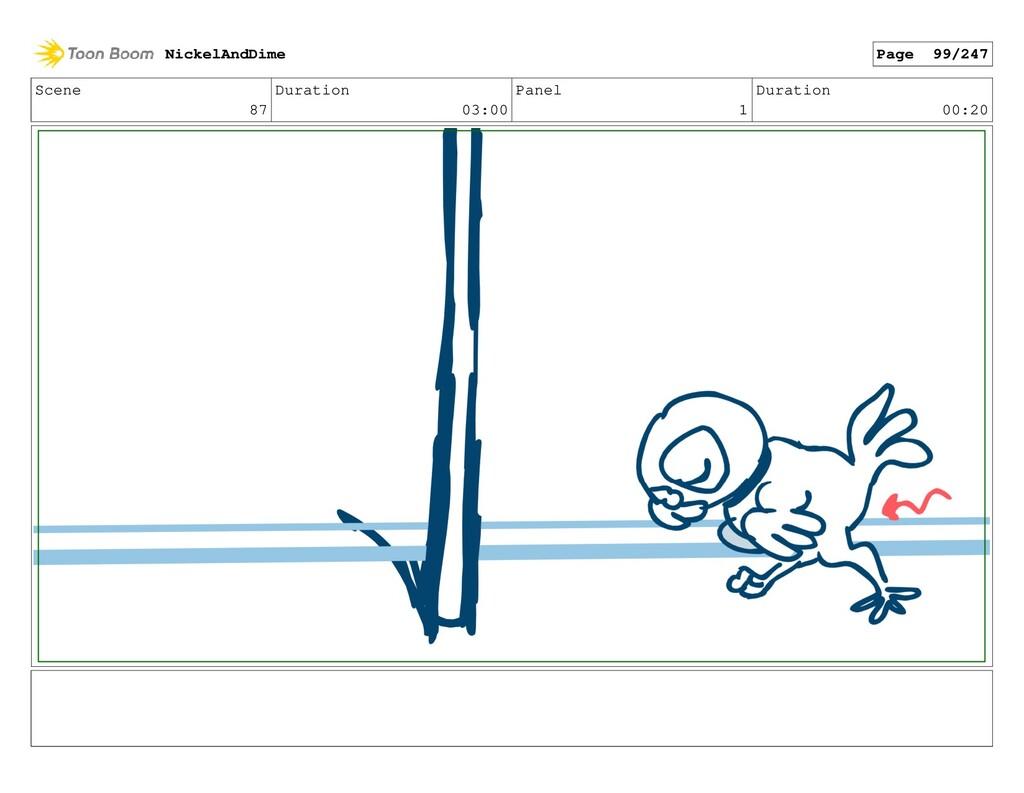 Scene 87 Duration 03:00 Panel 1 Duration 00:20 ...