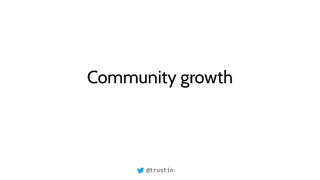 @trustin Community growth