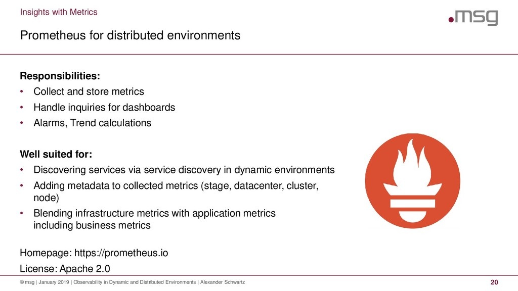 Insights with Metrics Prometheus for distribute...
