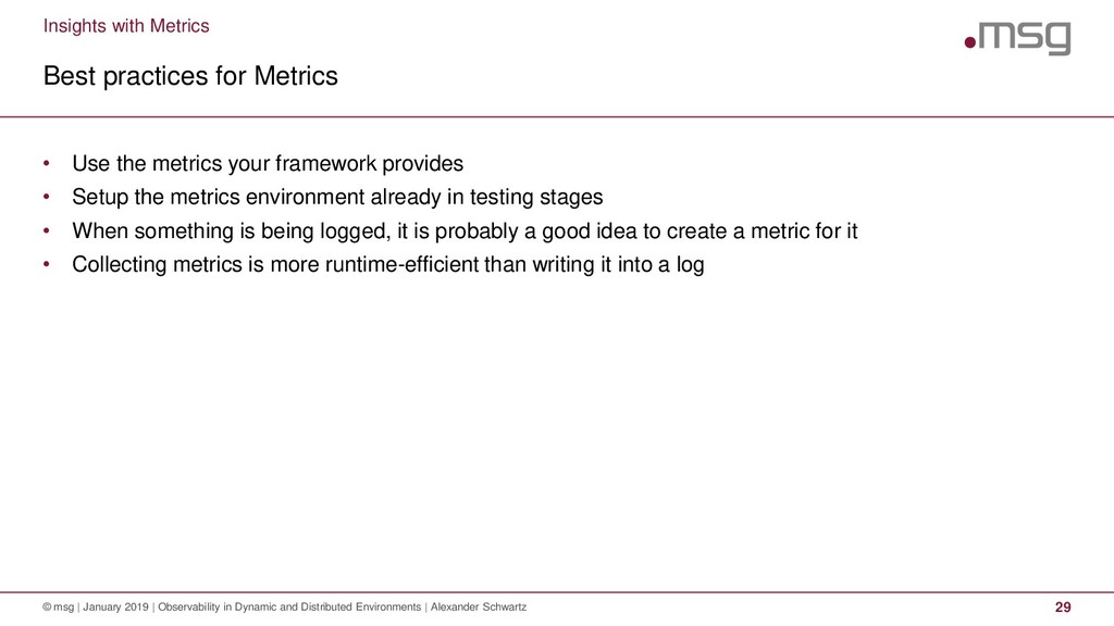 Insights with Metrics Best practices for Metric...