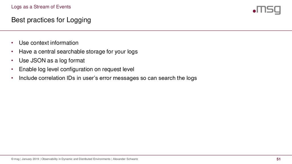 Logs as a Stream of Events Best practices for L...