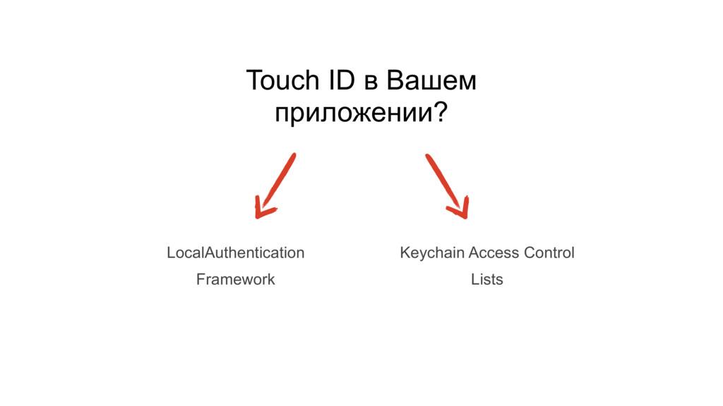 Touch ID в Вашем приложении? LocalAuthenticatio...