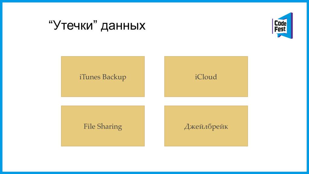 """""""Утечки"""" данных iTunes Backup iCloud File Shari..."""