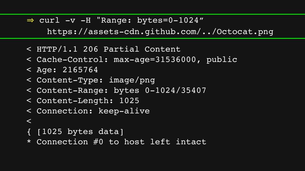 """㱺 curl -v -H """"Range: bytes=0-1024"""" https://asse..."""