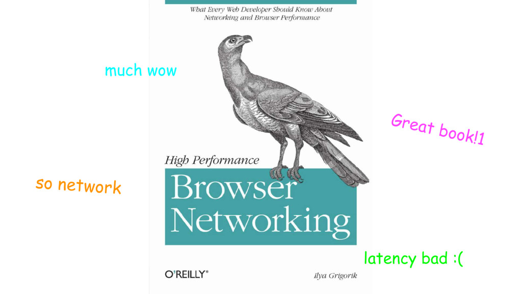 Great book!1 much wow so network latency bad :(