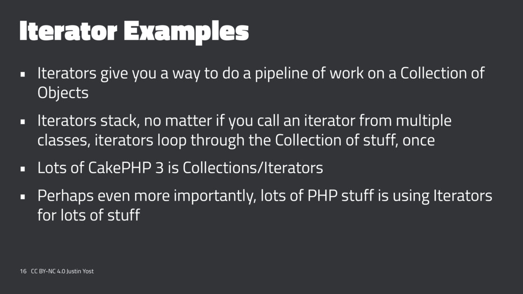 Iterator Examples • Iterators give you a way to...