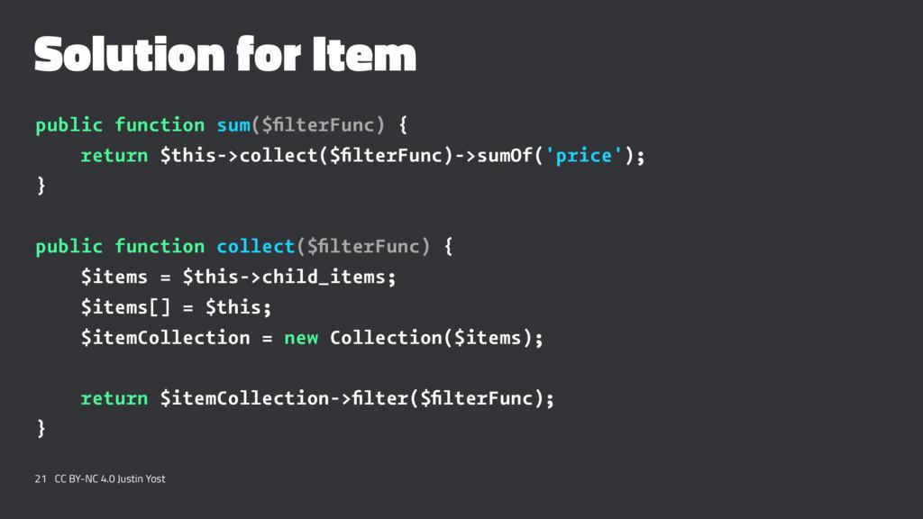 Solution for Item public function sum($filterFun...