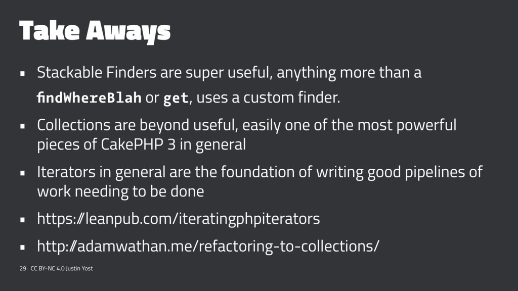 Take Aways • Stackable Finders are super useful...