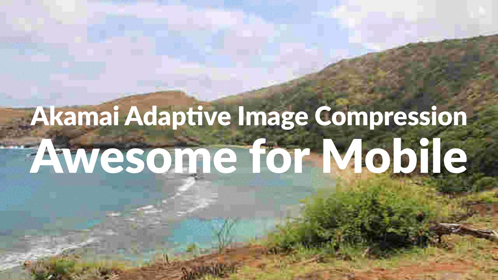 Akamai&Adap)ve&Image&Compression Awesome'for'Mo...