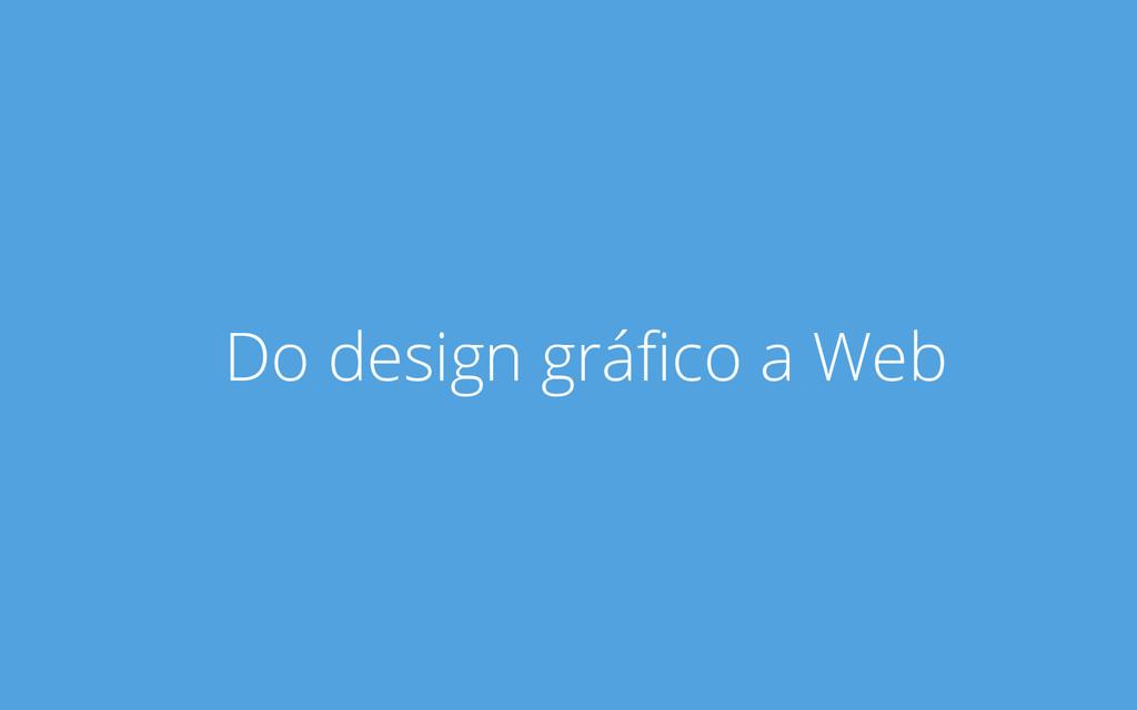 Do design gráfico a Web