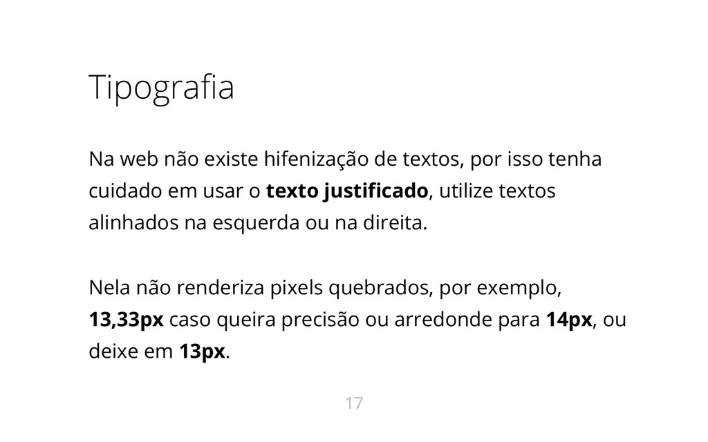 Tipografia Na web não existe hifenização de tex...