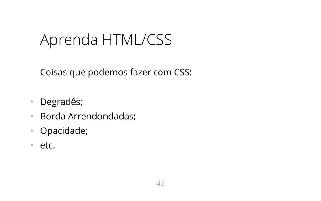 Aprenda HTML/CSS Coisas que podemos fazer com C...