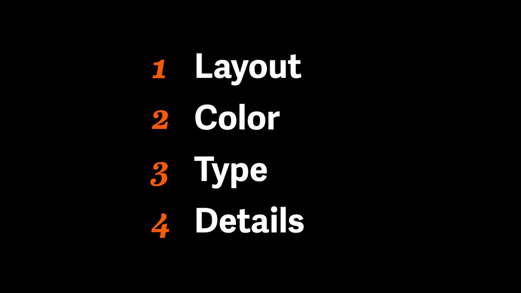 1 Layout Color Type Details 2 3 4