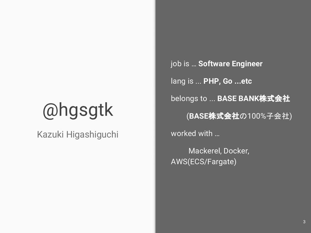 @hgsgtk Kazuki Higashiguchi job is … Software E...
