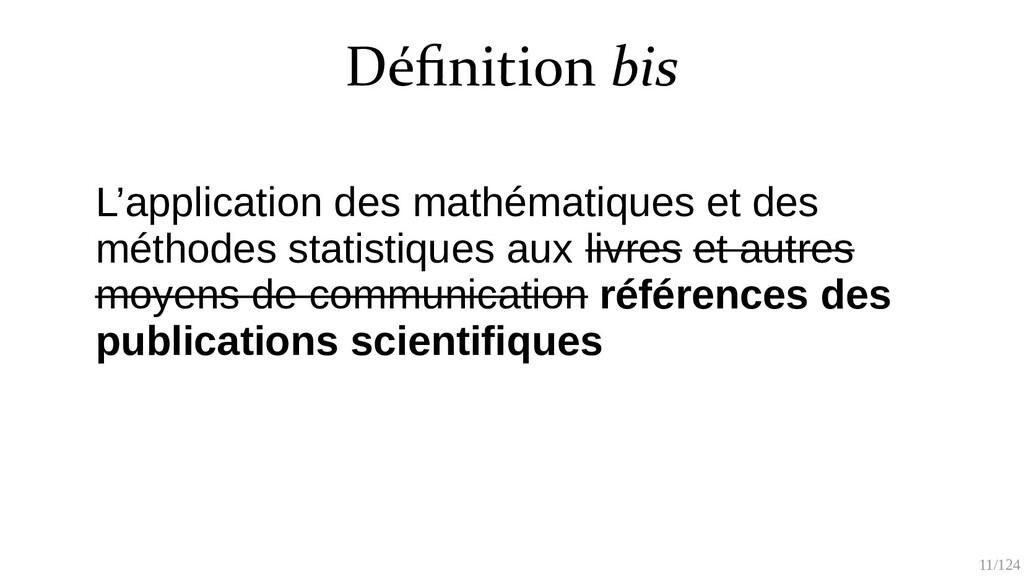 11/125 L'application des mathématiques et des m...