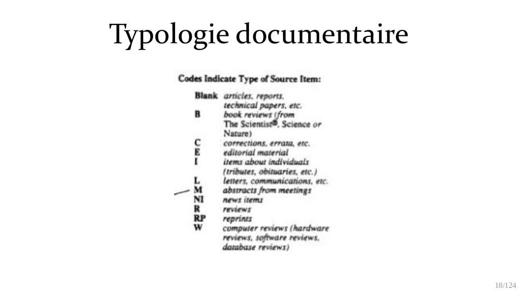 18/125 Typologie documentaire