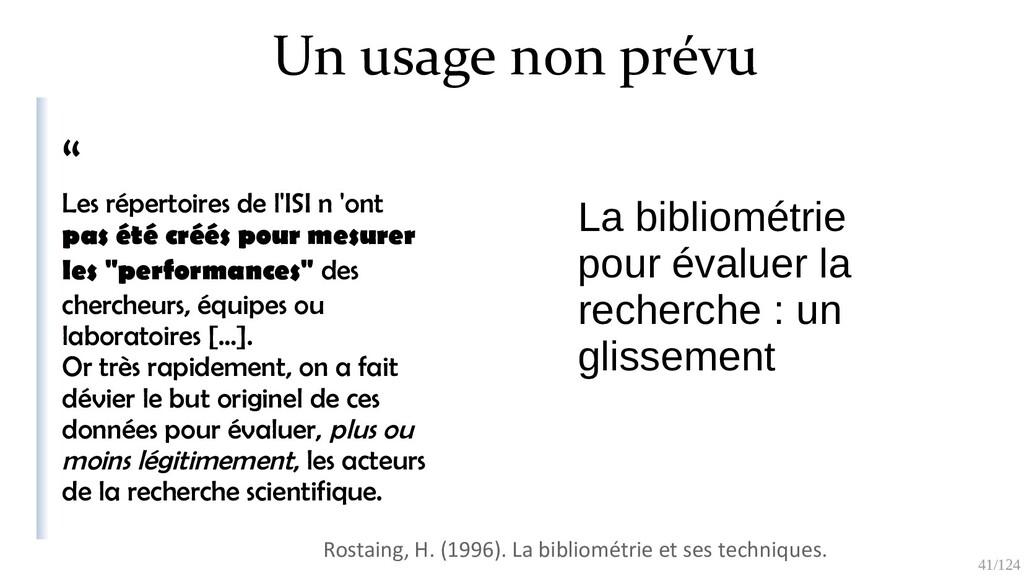 """41/125 Un usage non prévu """" Les répertoires de ..."""