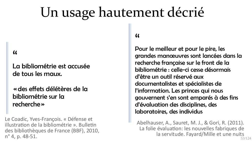 53/125 La bibliométrie a mauvaise réputation (a...