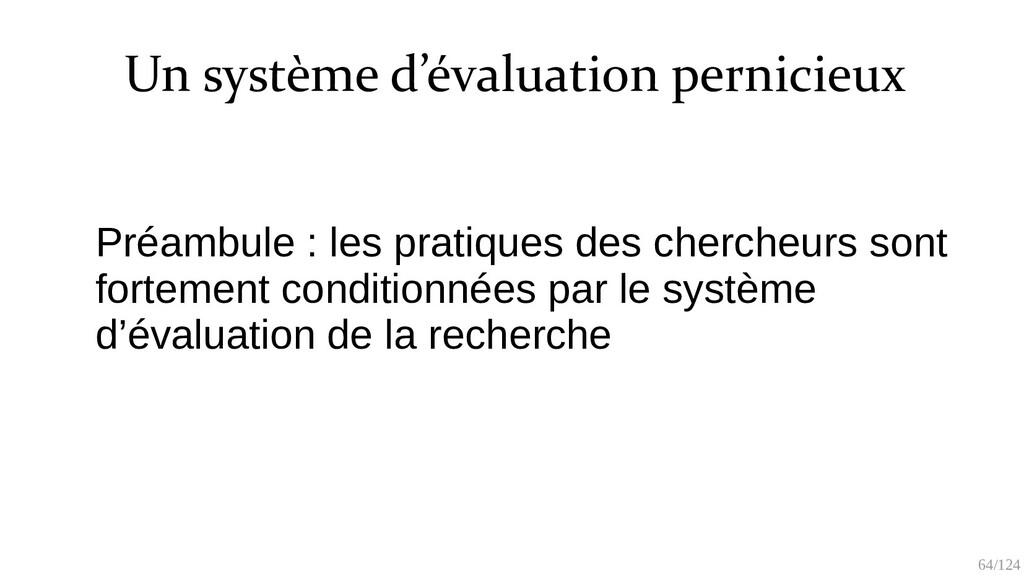 64/125 Composant du système pernicieux ● Des re...